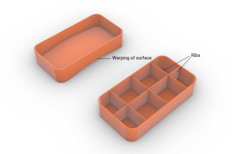 Warp 3D Printed Parts